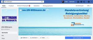 Facebook Screenshot von Wittmann UN-Produkte